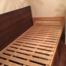 木製シングルベッド フレーム+マットレス+ベッド下収納