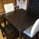IKEA BJURSTA 伸長式 ダイニングテーブル 2-4人 椅子3脚