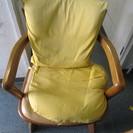 木製 座面回転 椅子2脚