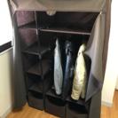 «値下げ»カバー付き衣類収納棚