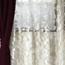 サンゲツ 白いレースカーテン 幅141 (1枚のみ)