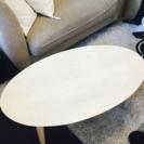 白い木目のローテーブル