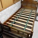 引取り決定済 カントリー調 木製ベッド シングル
