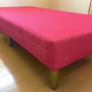 脚付シングルマットレスベッド