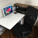 パソコンデスク、収納棚、オフィスチェア(パソコン、プリンター除く)