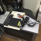 21型ブラウン管テレビと地デジチューナーのセット