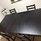 【最終値下げ】IKEAダイニングテーブルセット(中古)