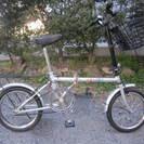 折りたたみ自転車(16インチ、前カゴ、キャリア付き)