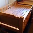 木製 二段ベッド♪ 収納つき