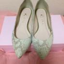価格改めました!!ダイアナ パイソン ペタンコ靴