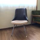 アンティーク皮張り椅子