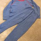 プチバトー パジャマ 110㎝ 紺×赤 美品 PETIT BETEAU