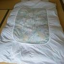 ♪ シングルふとん  羽毛掛け布団、敷き布団、プラスチックビーズ枕...