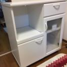 ルシフォン  真っ白なストッカーワゴン・食器棚