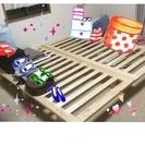 天然木パイン材のすのこベッド