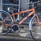 27インチ 18段変速 クロスバイク 自転車 CAINS カゴ付