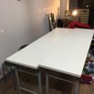 会議テーブル2個セット(パイプ椅子もつけます)