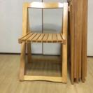 折りたたみ木製チェア4点セット