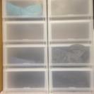プラスト 組合せできる 收納ケース4段(2個)