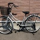 自転車 26インチ シルバー