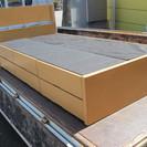 シングルベッド 引出し収納x6杯付 フレームのみ 収納ベッド