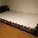 黒パイプ シングルベッド
