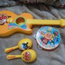 アンパンマン3種。楽器おもちゃセット。