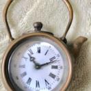 🕰【送料無料】レトロ真鍮製ヤカン型古時計アンティーク