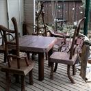 おもしろ家具ー賢者の椅子4脚とテーブルセット
