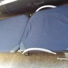 折りたたみ式ベッド♪ リクライニング、キャスター付き 【118】