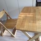 【無印良品】机、椅子