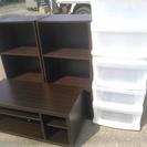 テレビ台、収納ケース2個、カラーボックス2個セット 格安