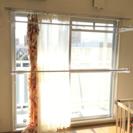 ※交渉中【0円】セキスイ 室内用 窓枠に突っ張る物干しスタンド 2段式