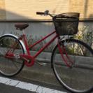 【セール!】27インチ 中古自転車 赤