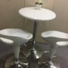 【白】テーブルandチェアセット