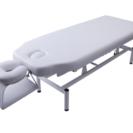 【白】施術ベッド 手動高さ調節可能