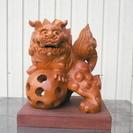 獅子 木製 木彫り 置物