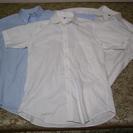 ■美品! UNIQLOユニクロ/綿100%半袖ビジネスシャツ×Lサ...