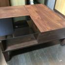 新品 『  天然木 収納付きテーブル 』訳あり