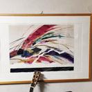アート絵画でお部屋イメージ変え。