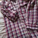 くしゃくしゃチェックシャツ七分袖