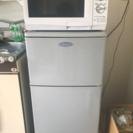 1人暮らし用冷蔵庫と電子レンジセットで3000円いわきにて