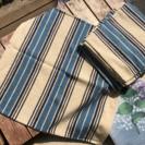 座布団カバー 縞柄4枚