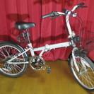 美品 折り畳み自転車 雨天未使用 屋内保管 ライト ワイヤーロック...