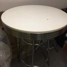 【取引中】白の円形テーブル