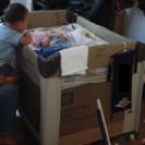 <値段変更>【中古】baby trendのベビーベッド(プレイヤード)