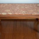 ◆西洋アンティーク◆大理石×木製 センターテーブル 98×54×4...