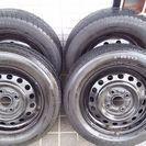 タイヤとホイール4本セット(ワゴンRから外した中古品)