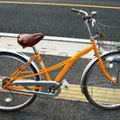商談中26インチ シティーサイクル オートライト オレンジ