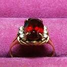 ガーネット9Kメレダイヤリング(1月誕生石指輪)
